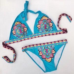 Victoria's Secret Boho Triangle Halter Bikini Set